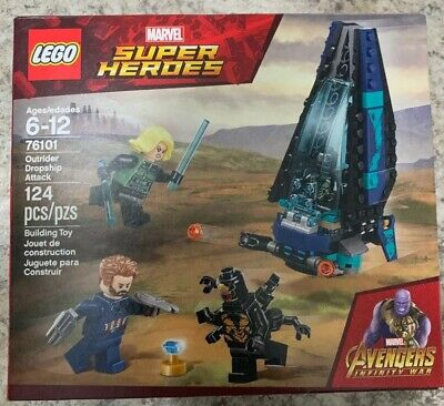 """76101 Black Widow Marvel Super Heroes /""""Outrider Dropship Attack/"""" Mi NEW LEGO"""