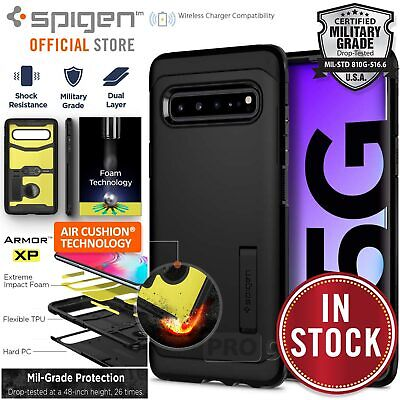 Galaxy S10 5G Case, Genuine SPIGEN Heavy Duty Tough Armor Hard Cover for Samsung