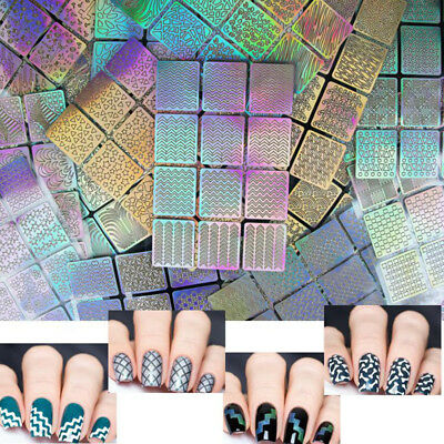 24pcs/lot Nail Art Hollow Stencil Template Stickers DIY Manicure Tool Stamp New