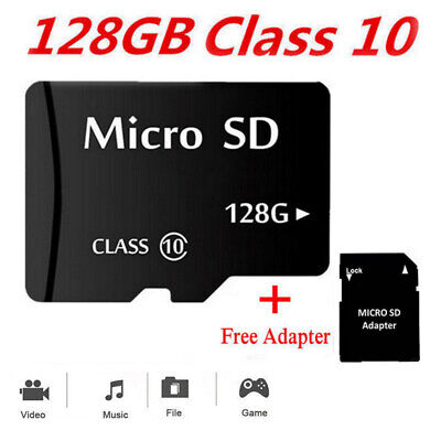 New 128GB Micro SD Memory Card Flash TF Class 10 SDXC SDHC Card + Free Adapter