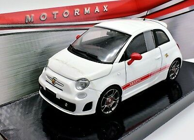 Modellino Auto Fiat 500 Abarth Scala 1/24 Car Model Diecast Automodelli Coche