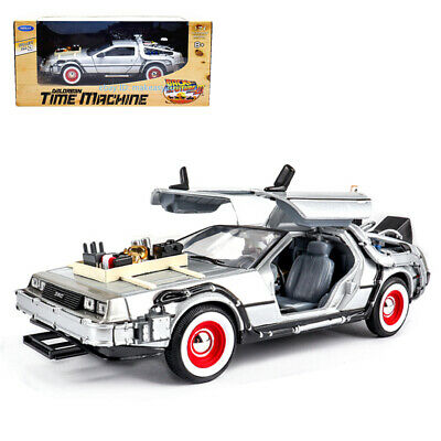 Welly 1:24 Back to the Future 3 Delorean Time Machine Metal Model Car Mint