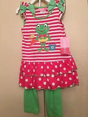 Good Lad Nwt Girls 2 Piece Frog Outfit Size 4