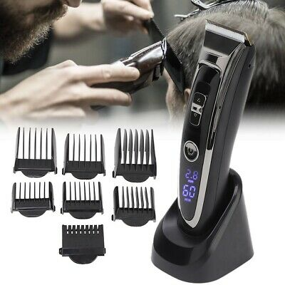 Rechargeable Hair Clipper Electric Mens Cordless Men Hair Trimmer Beard Shaver