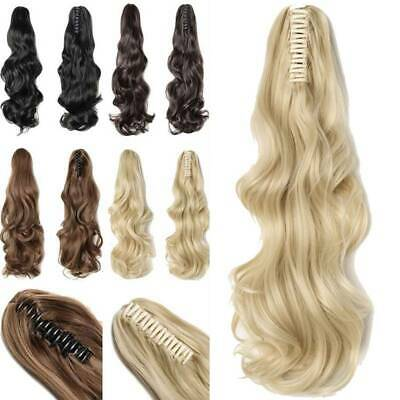 Women Girl Long Curly Hair Extensions Clip Claw Ponytail Pony Tail Synthetic Wig