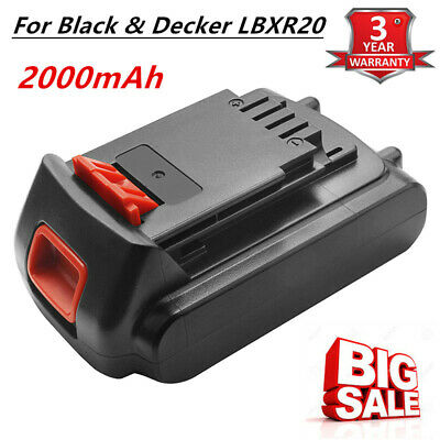Replace For Black & Decker LBXR20 20V 2.0Ah Li-Ion Battery Max  LBX20 LB20 TP