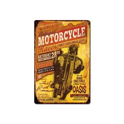 Metal Tin Sign antique motorcycle  Decor Bar Pub Home Vintage Retro Poster