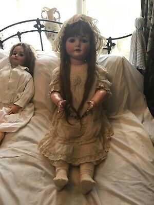 Superb Huge Antique 42 inch Kammer and Reinhart, Simon and Halbig companion doll
