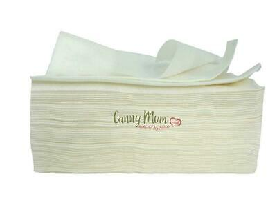 CannyMum Gentle and Pure Bamboo Biodegradable Wipes, 1 Pack (100 Dry 1