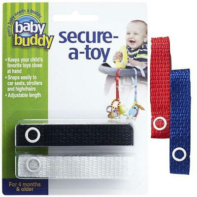 Baby Buddy Secure-A-Toy straps 4ct for 6-36 months (Multicoloured)