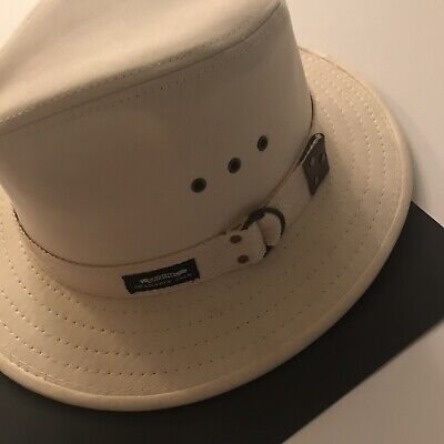 d238123ba0f121 ORIGINAL PANAMA JACK * MENS SAFARI HAT- Medium-COTTON FEDORA-EXCELLENT PRE-
