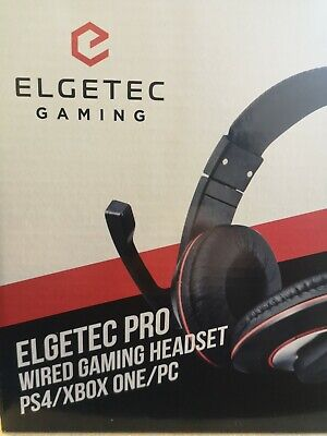 Xbox One Playstation 4 Pc * Elgetec Pro Stereo Gaming Headset + Chat Mic New Ps4