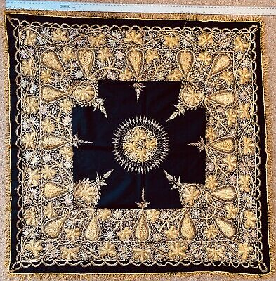 Oriental Antique  Gold Thread And Silk Wall Hanging , In Super Condition
