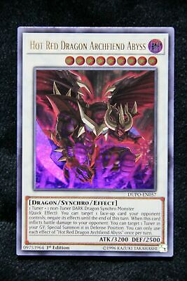 Yu-Gi-Oh!- Hot Red Dragon-Archfiend Abyss -DUPO-EN057 -Ultra Rare- 1st Ed- NM/M