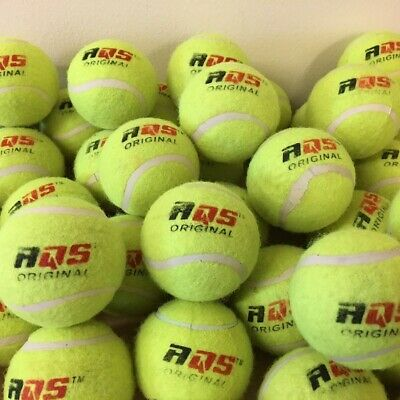 40 x Tennis Balls Bright Green For Pets Puppy Play Dog Toys Bouncing Ball By AQS