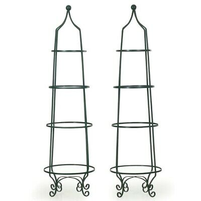 PAIR GLASS BOOKCASES |Vintage Etageres Green Painted Metal Glass Display Shelves