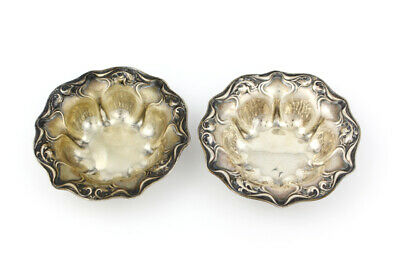 Unique R. Wallace & Sons Sterling Silver Nut Dish; Set of 2