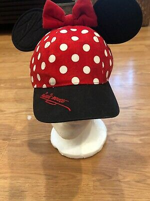 8b6ae020 TODDLER GIRLS WALT Disney World Minnie Mouse Hat Baseball Cap Ears ...