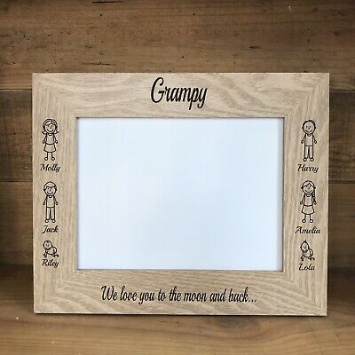 Personalised Photo Picture Frame Fathers Day Dad Daddy Grandad Gifts From Kids