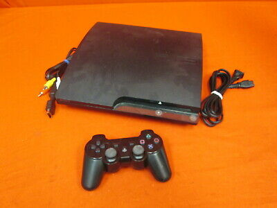Sony PlayStation 3 Slim 320 GB Charcoal Black Console With Controller 2126