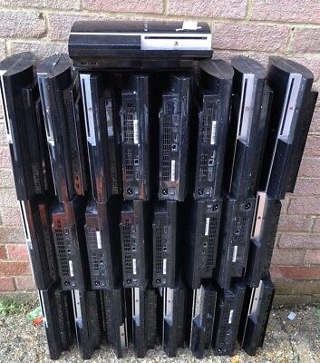 5 X Sony Ps3 PlayStation 3 Charcoal Black Console - Spares or Repairs 2