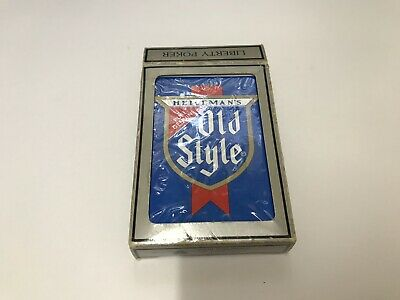 Vintage HEILEMANS OLD STYLE BEER Playing Cards USA NIB Liberty Poker