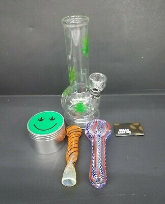 "Hookah Water Pipe Glass Bong 6"" inch, ""GREEN LEAF COMBO"""