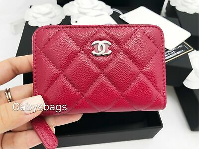 7ceaf3df2d8b0c CHANEL O-COIN ZIP/CARD holder GHW in Black Caviar - $520.00 | PicClick