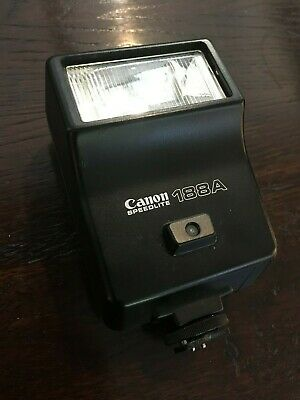 CANON SPEEDLITE 188A Vintage Flash Shoe Mount for Film Camera WORKING
