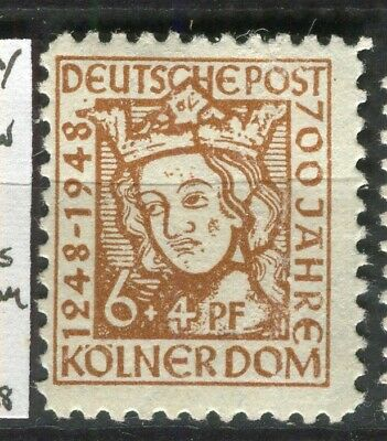 GERMANY; ALLIED OCC. British & US Zone 1948 Cologne Cathedral mint 6pf.