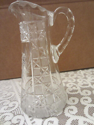 Vintage Small Glass Pitcher