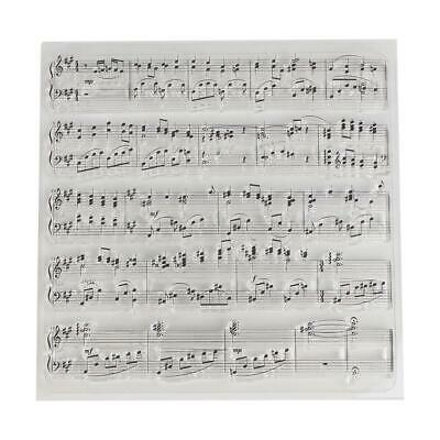 Sheet Music Transparent Silicone Clear Stamp Cling Seal DIY Scrapbook Embossing