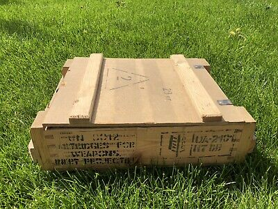 Military Wooden Russian Ammunition Ammo Box Crate Storage Collectible Vintage