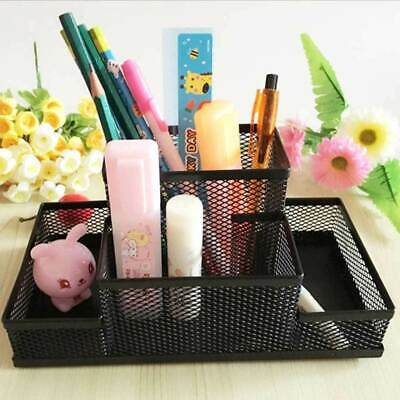 Metal Mesh Desk Cup Organiser for Office/Home/Pen/Pencil/Stationary/Holder-^ Hot