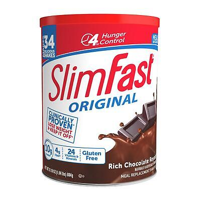 🔥 Slim Fast Original Meal Replacement Shake Mix Rich Chocolate Royal 🔥 31.18oz