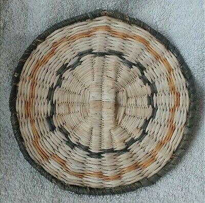 Hopi Wicker Basket or Plaque Great Colors 2