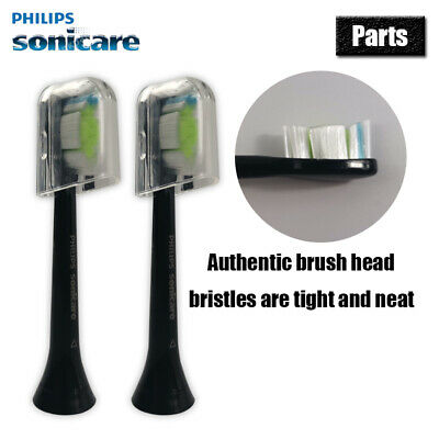 2-Pcs Philips Sonicare DiamondClean Genuine Standard Brush Heads Black  | New