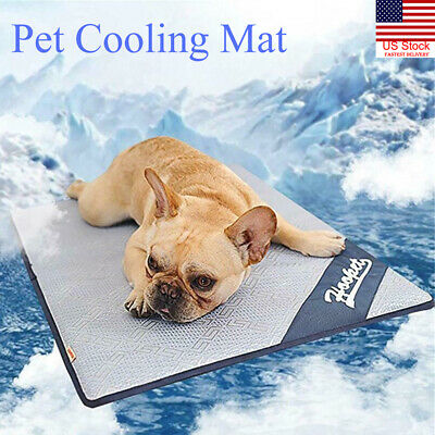 Dog Cooling Non-Toxic Mat Pet Cat Summer Cool Bed Puppy Heat Relief Pad Cooler