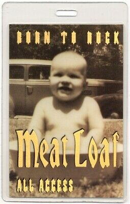 Meat Loaf authentic 1995-1997 concert Laminated Backstage Pass Born to Rock Tour