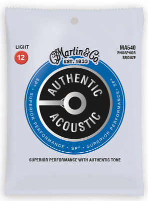 Martin MA540 Authentic Acoustic Light Phosphor Bronze Guitar Strings 12-54