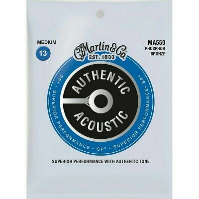 Martin MA550 Authentic Acoustic Phosphor Bronze Medium Guitar Strings 13-56