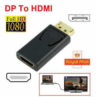 Display Port DP Male To HDMI Female Flat Adapter Connector Converter for  PC