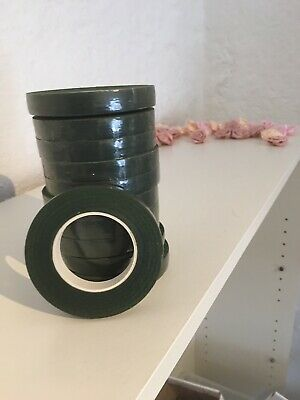 11 Rolls Of Florists Tape Green
