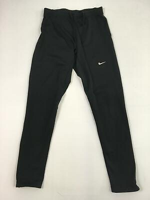 Girls Nike Black Drawstring Waist Cycling Sport Leggings Trousers M Gb 31/33