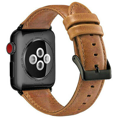 Cinturino in Vera Pelle Banda Braccialetto Per Apple Watch SERIE 4 3 2 1 44/42mm