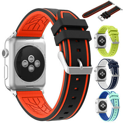 Cinturino Braccialetto Silicone Sport Band Per iWatch Apple Watch 40/44/38/42mm