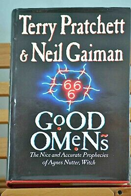 RARE Good Omens by Terry Pratchett and Neil Gaiman inscribed by Terry Pratchett