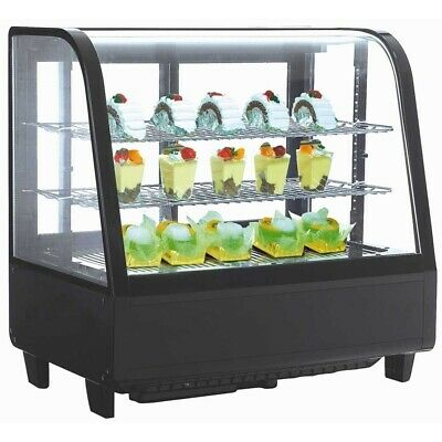 Marchia MDC100, 27″ Black Refrigerated Countertop Display Case