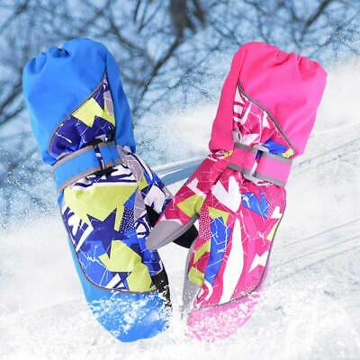 Children Winter Warm Windproof Waterproof Kids Mittens Ski Snowboard Gloves AU