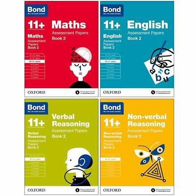 Bond 11+ Assessment Papers Book 2, English, Maths, Verbal -  Age 10-11+ years